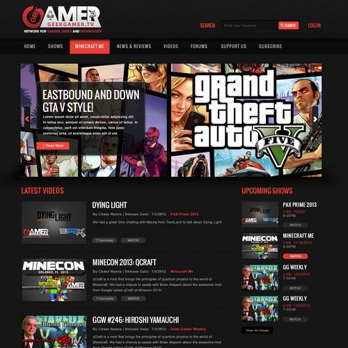 GeekGamer.tv design proposal