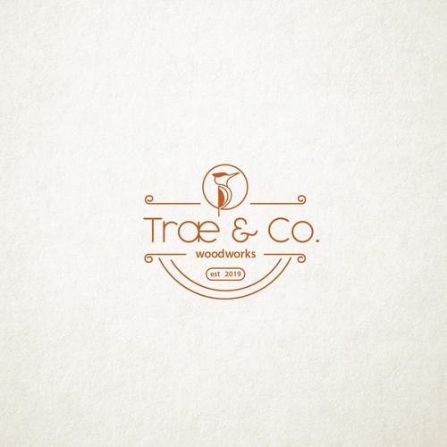 Logo design for trae & co woodworks.