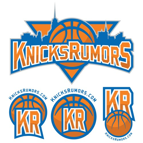 Branding for New York Knicks Blog.