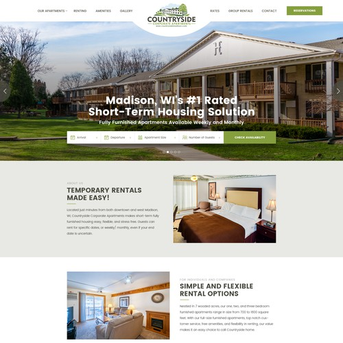 Webdesign for recognized hotel / corporate apartments