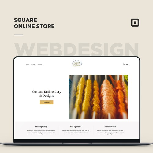 Square online store for a Embroidery store