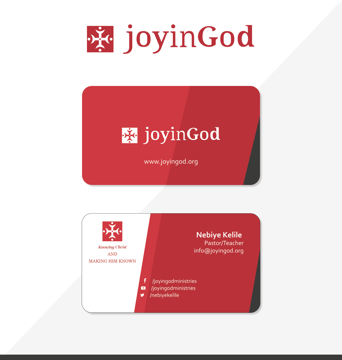 Joy in God Ministry Business Card
