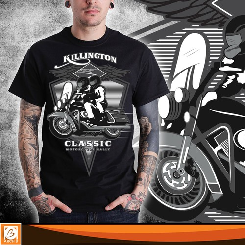 Bold t-shirt design for Motor Biker