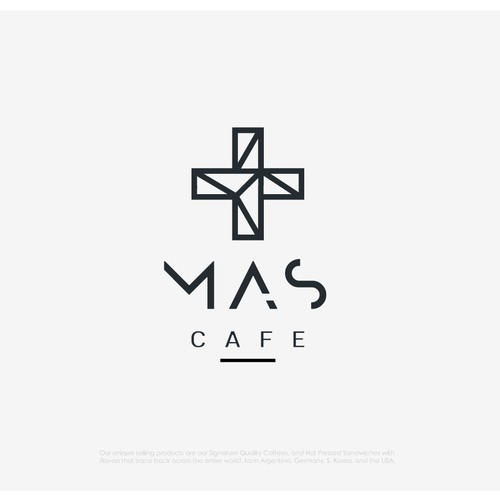 Hipster logo for MAS Coffee House