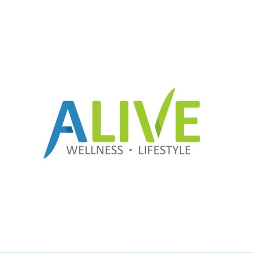 Create an abstract logo for a Wellness and Lifestyle company