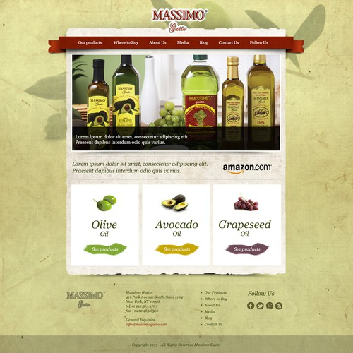 Massimo Gusto needs a new website design