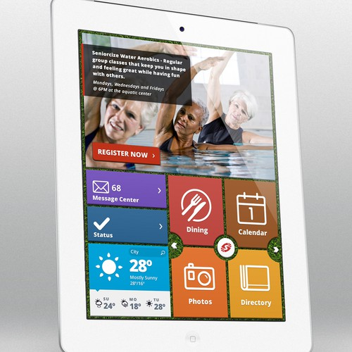Design the next generation iPad UI for senior citizens