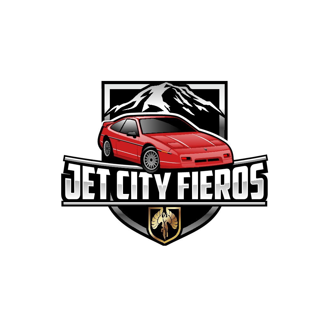 Jet City Fieros (Seattle) car club logo. To be used on web site, cards, patches, jackets, etc!