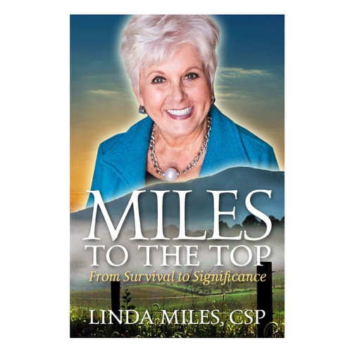 Book cover design featuring author