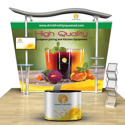 Trade show booth banner