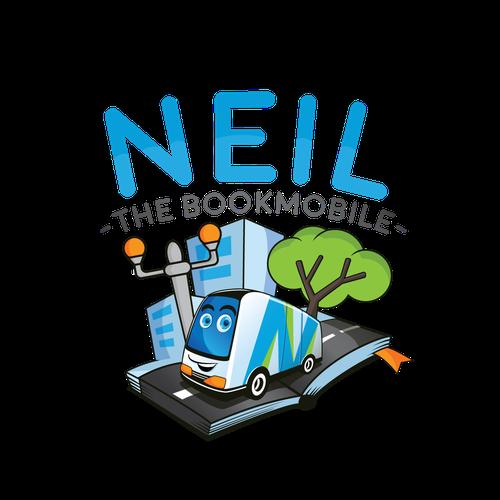 Fun Mascot For Mobile Book service