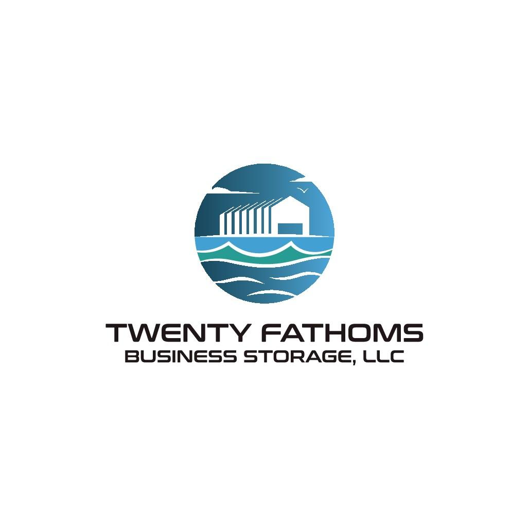 Logo for a relaxed warehouse park near the beach