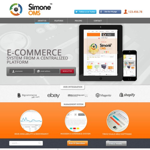 New landing page wanted for SimoneOMS