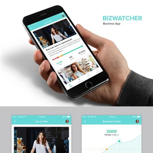 Bizwatcher Business App Design