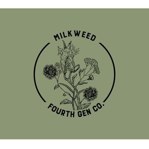 earthy design featuring Milkweed!
