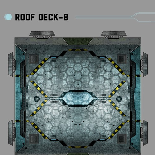 Texture design for gaming structure set.
