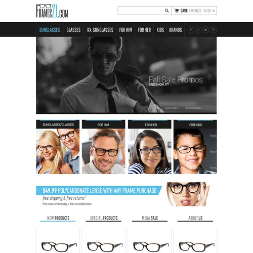 Glasses & Sunglasses Online Retailer & Logo Design