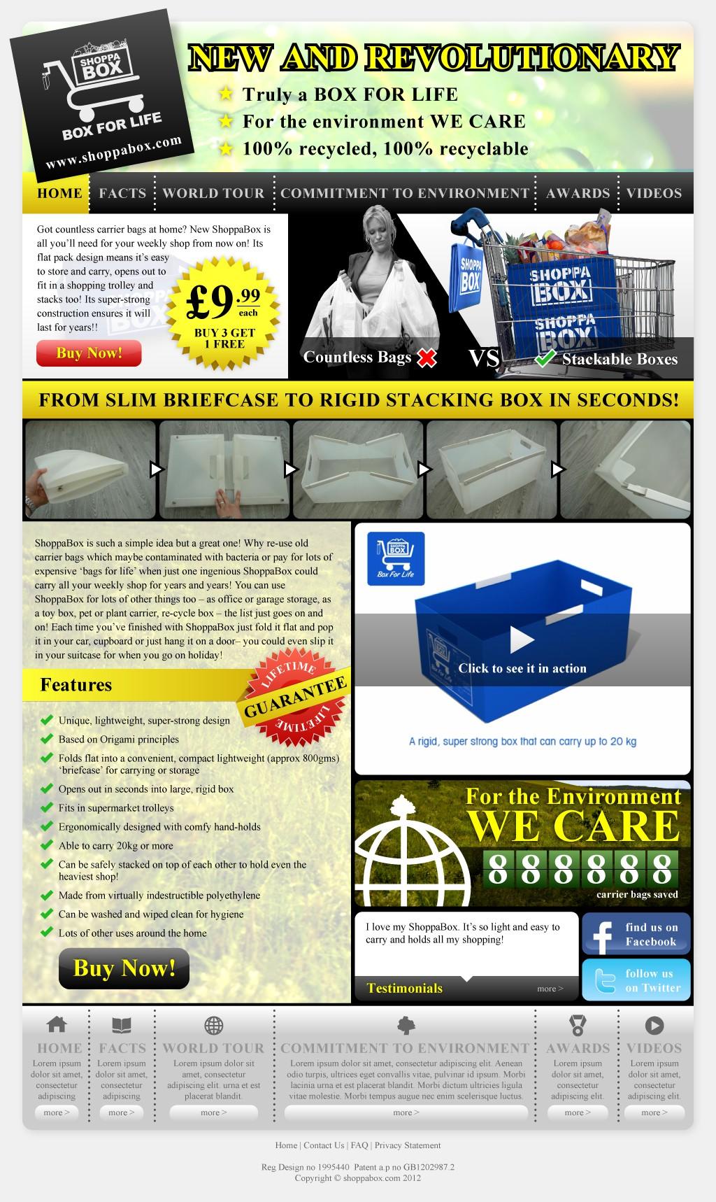 Help ShoppaBox Limited - www.shoppabox.com with a new website design