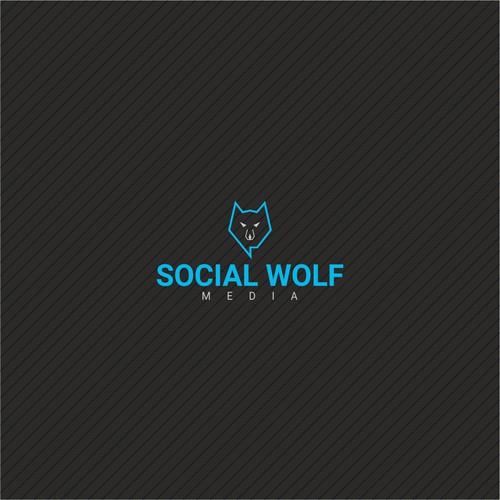Social wolf logo