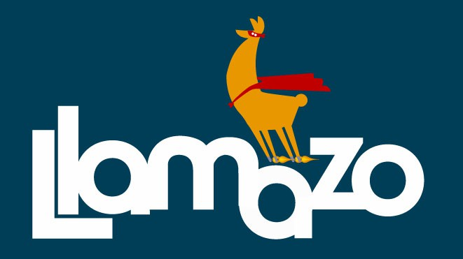 E-commerce Company Logo...with a Llama in it!