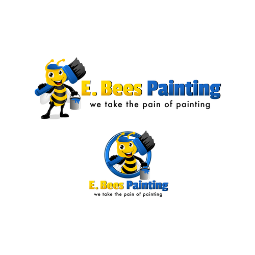 E Bees Painting