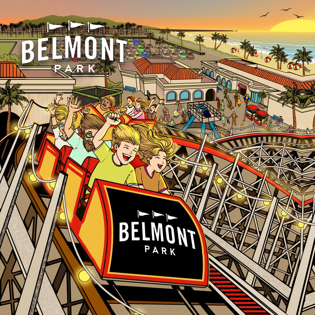 3d pillow for Belmont park, San Diego