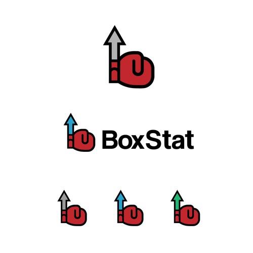 Modern statistics logo for a data driven sports website