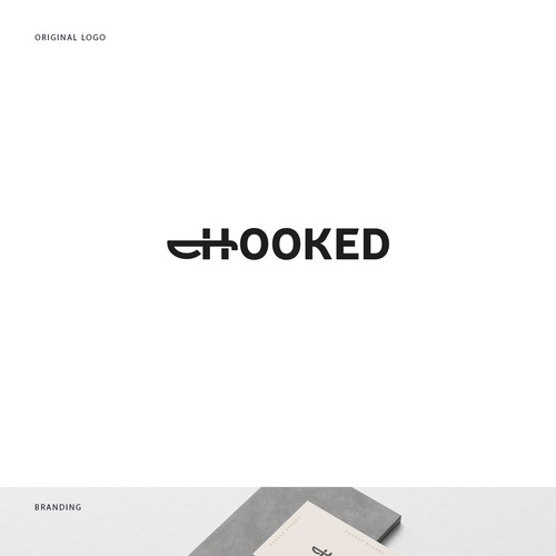 Minimal logo design for Hooked Spoons