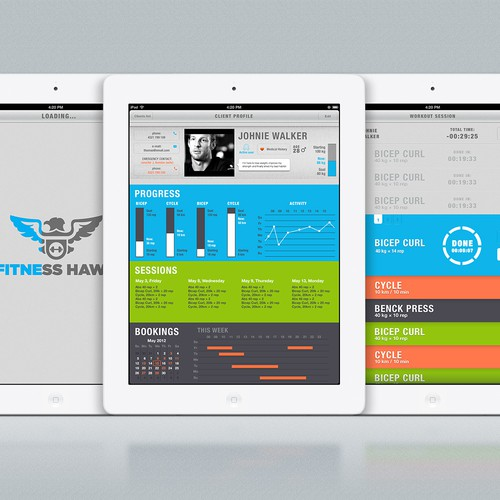 Personal Trainer iPad Design