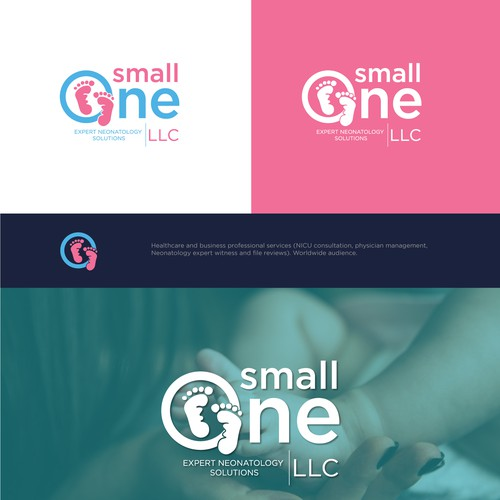Strong and bold logo concept for SmallOne expert neonatology solutions.