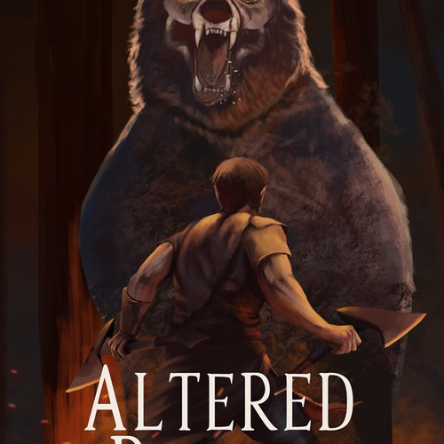 LitRPG Book Cover. High Fantasy meets Video Games with part wolf MC.