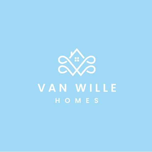Van Wille Homes Logo design