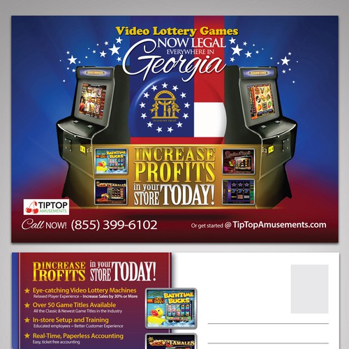 Create a creative direct mailer for TipTop Amusements