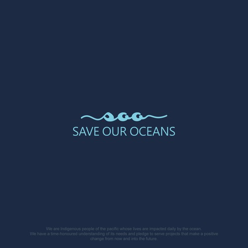Simple logo for save our ocean