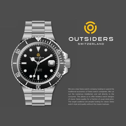 Design a modern, stylish logo for a new Swiss watch company.