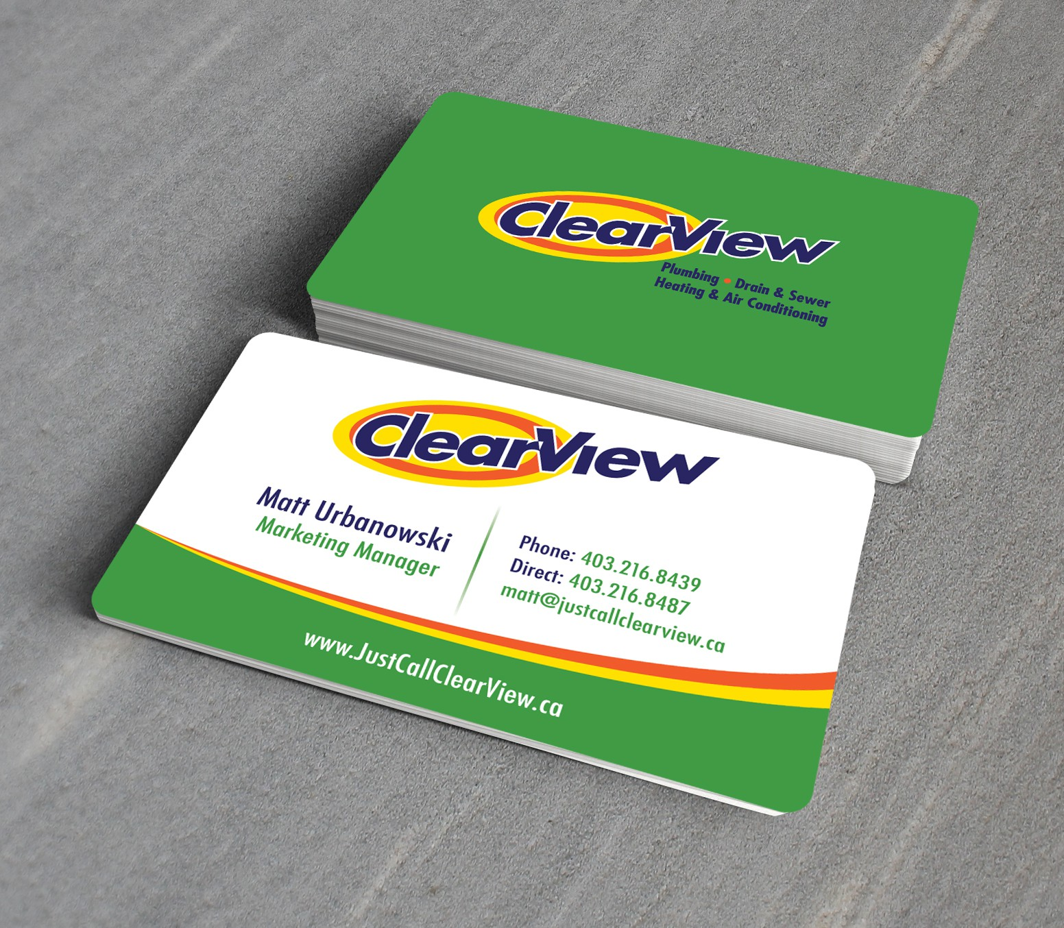 Help Clearview with a New Business Card