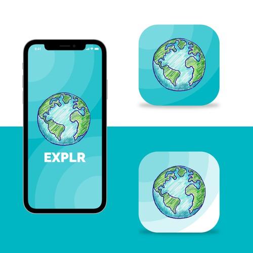 Earth App Icon Design