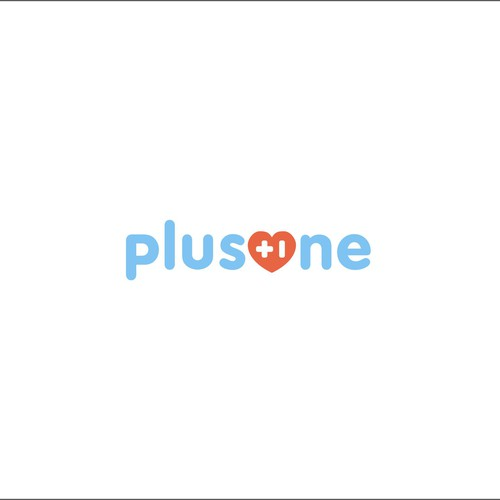 wordmark logo concept for PlusOne