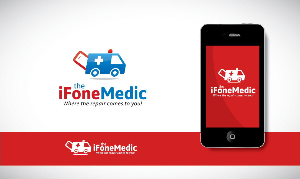 create an image that tells people i fix iPhones/smartphones