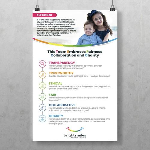 BrightSmiles Pediatric Dentistry Poster