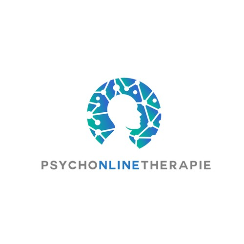 Bold logo for online psychotherapist project.