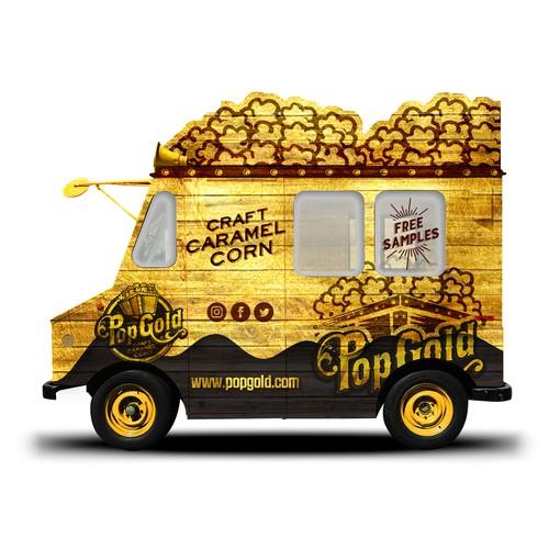 Pop Gold Vinyl Truck