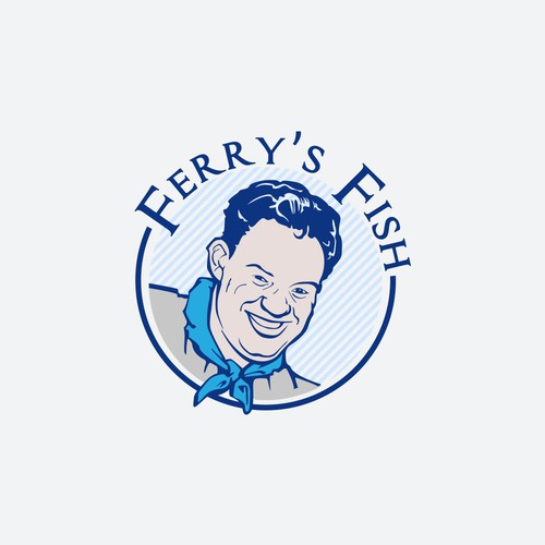 logo for ferry's fish
