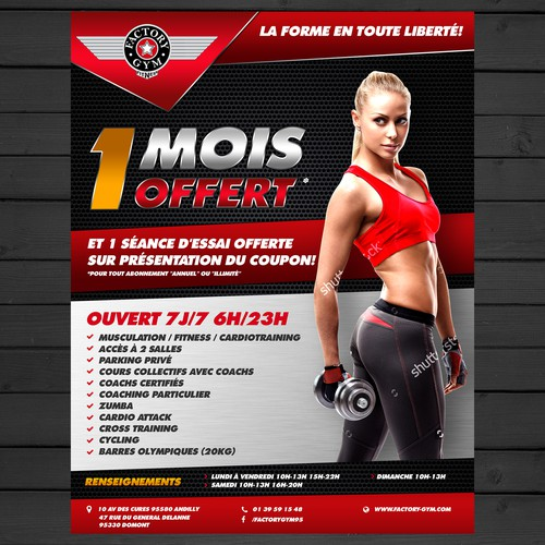 Flyer concept for Factory Gym