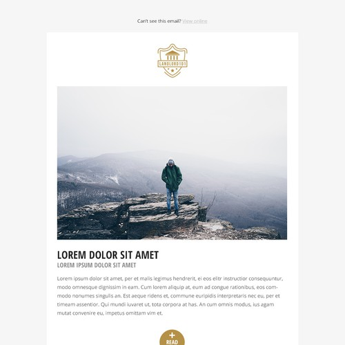 Magazine styled newsletter template