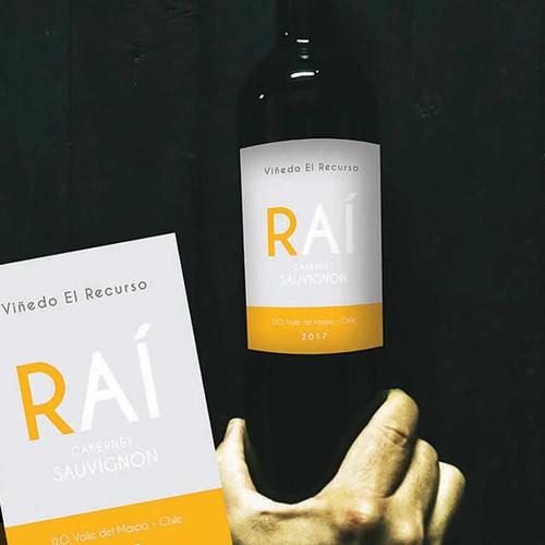 Bold wine label concept