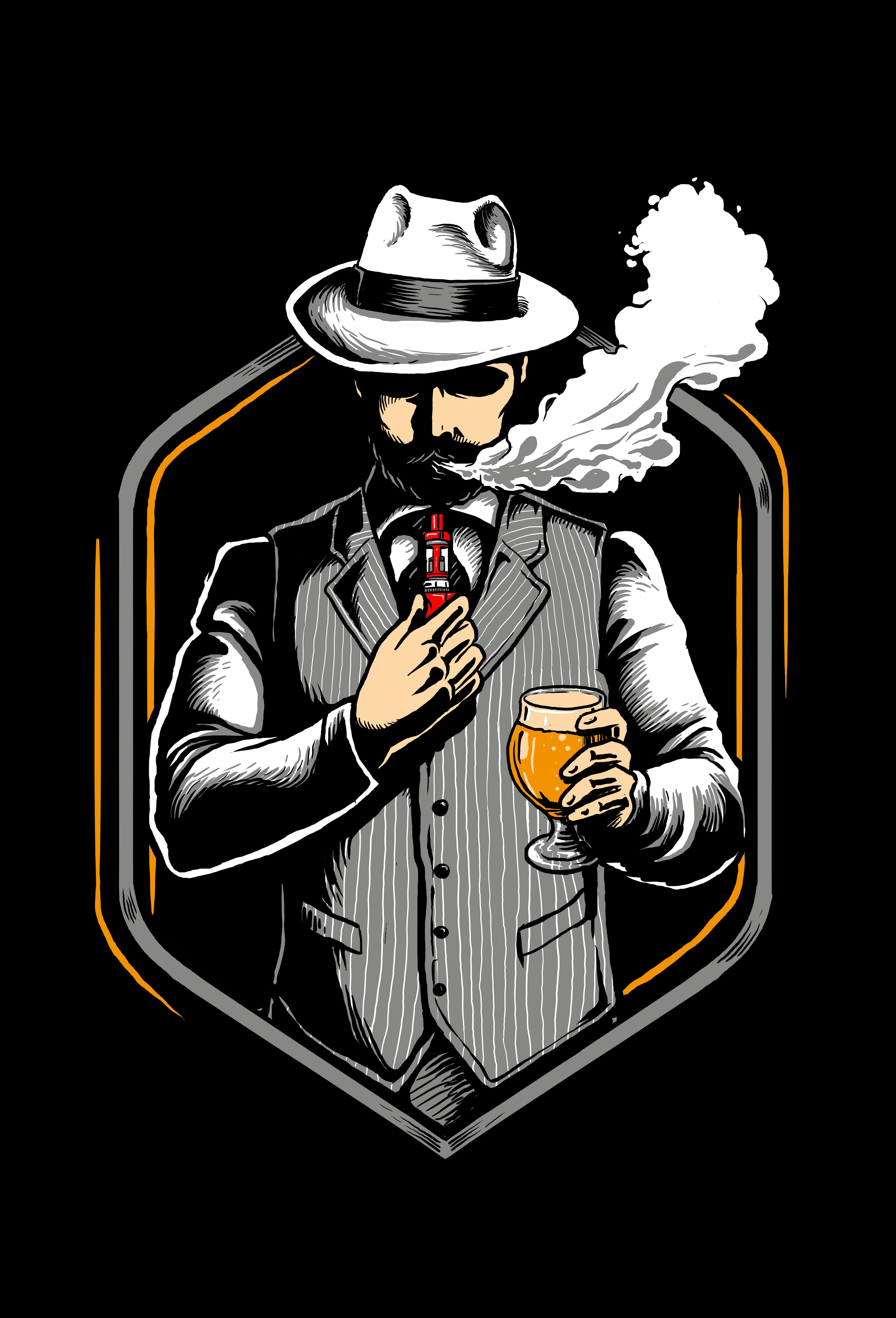 Vape Pub shirt 30s style