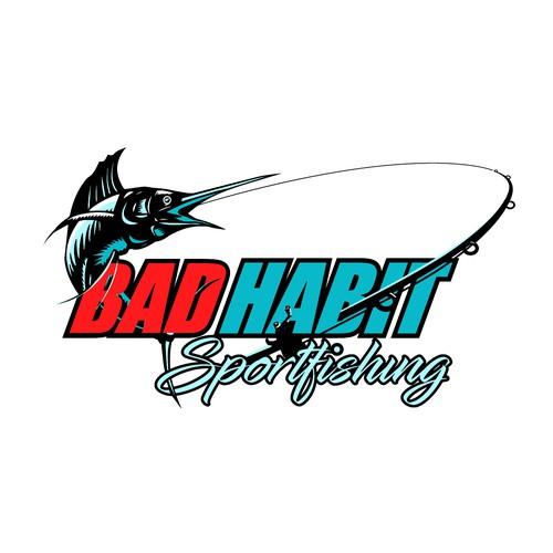 Logo for bad habit sportfishing