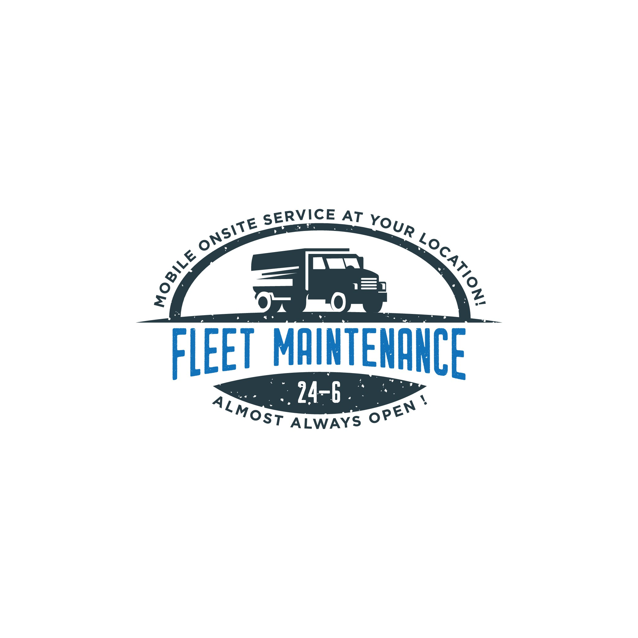 Design a cool logo for our new Mobile Fleet Maintenance Business 24-6  Fleet Maintenance