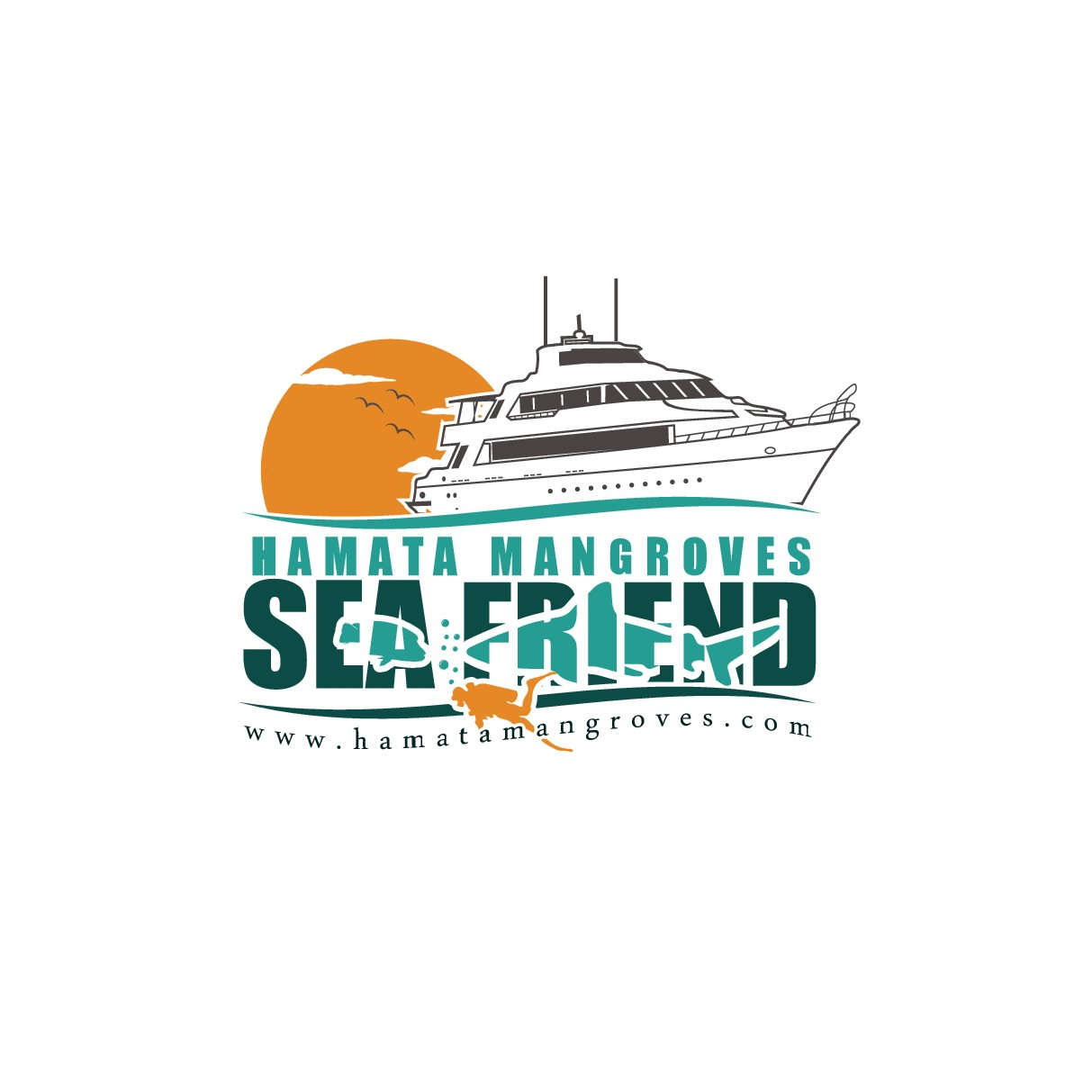 New boat in logo of SeaFriend and Hamata Mangroves